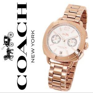 🆕 Coach Rose Gold Watch
